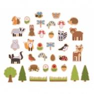 Bigjigs Toys - magnetky lesní zvířátka