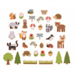 Bigjigs Toys - magnetky lesné zvieratká