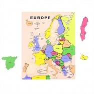 Bigjigs dřevěné vkládací didaktické puzzle Evropa