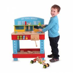 Bigjigs Toys drevené hračky - Ponk - pracovný stôl
