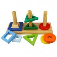 Bigjigs Toys Drewniany sorter na patyczkach