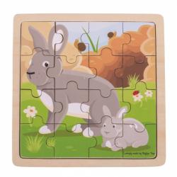 Bigjigs Toys puzzle - Králik s králičkom
