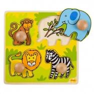 Dřevěné hračky - Vkládací puzzle - Safari
