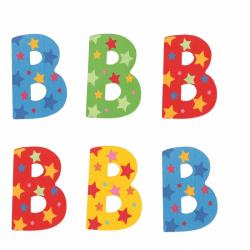 Bigjigs Toys hviezdičkové písmenko B