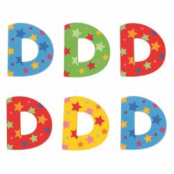Bigjigs Toys hviezdičkové písmenko D
