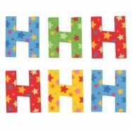 Bigjigs Toys hvězdičkové písmenko H