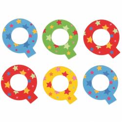 Bigjigs Toys hviezdičkové písmenko Q
