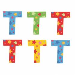 Bigjigs Toys hviezdičkové písmenko T
