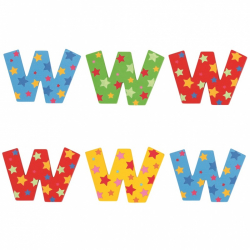 Bigjigs Toys hviezdičkové písmenko W