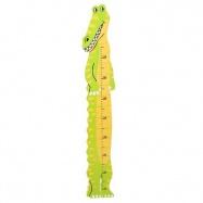 Dětský dřevěný metr - krokodýl