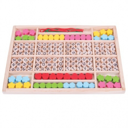 Bigjigs Toys Drevené hračky - Navliekacie korálky Abeceda