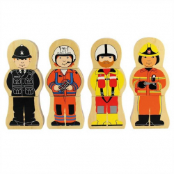 Bigjigs Toys drevené puzzle - Profesia
