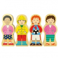 Bigjigs Toys dřevěné puzzle - Národnosti