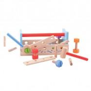 Bigjigs Toys drevené hračky - Ponk a prepravka na náradie 2v1