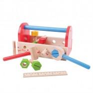 Bigjigs Toys drevené hračky - Moje náradie v prepravke