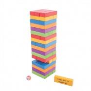 Bigjigs Toys drevené hry - Farebná Jenga