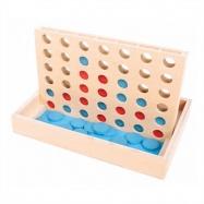 Bigjigs Toys drevené hry - Štyri v rovine