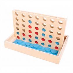 Bigjigs Toys dřevěné hry - Čtyři v rovině