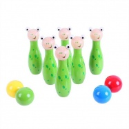 Bigjigs Toys dřevěné hry - kuželky žabky
