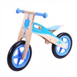 Bigjigs Toys drevené odrážadlo Modré koleso