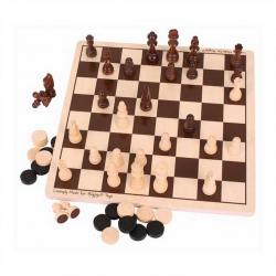 Bigjigs drevené šach a dáma