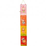 Bigjigs Toys detský drevený skladací meter - Víly
