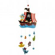 Drevené hračky - Závesný kolotoč - Piráti