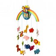 Dřevěné hračky - Závěsný kolotoč - Noemova Archa