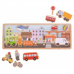 Bigjigs Toys magnetické puzzle mesto