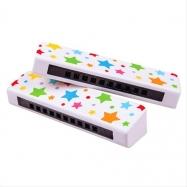 Bigjigs Toys Dřevěná harmonika hvězdičky 1 ks