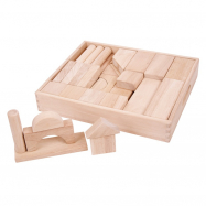 Bigjigs Baby Velké dřevěné kostky přírodní