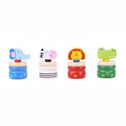 Bigjigs Toys Drewniane pudełeczko na ząbki Safari
