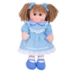 Bigjigs Toys látková bábika Amelia 35 cm