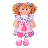 Bigjigs Toys látková panenka Georgie 38 cm
