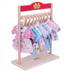 Bigjigs Toys vešiak pre šaty bábiky