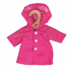 Bigjigs Toys ružový kabátik pre bábiku 34 cm