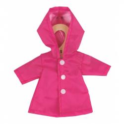 Bigjigs Toys ružový kabátik pre bábiku 28 cm
