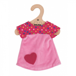 Bigjigs Toys ružové tričko so srdiečkom 34 cm