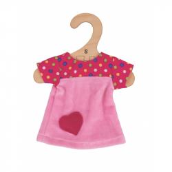 Bigjigs Toys ružové tričko so srdiečkom 28 cm