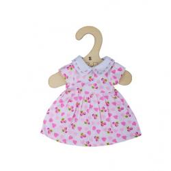 Bigjigs Toys Ružové šaty so srdiečkami pre bábiku 28 cm