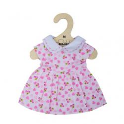 Bigjigs Toys Ružové šaty so srdiečkami pre bábiku 34 cm