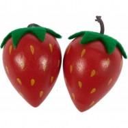 Bigjigs Drewniane owoce i warzywa - Truskawka 1 szt