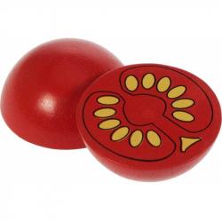 Bigjigs Toys drevené potraviny - Polovica paradajky 1ks