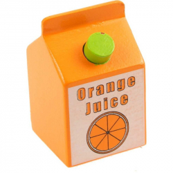 Bigjigs Toys drevené potraviny - Pomarančový džús 1ks