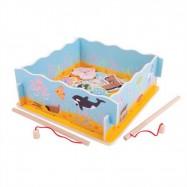 Bigjigs Toys drevená hra - Magnetické chytanie rybičiek