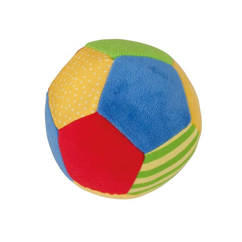 Bigjigs Toys textilní hračka - Chrastítko barevný balónek