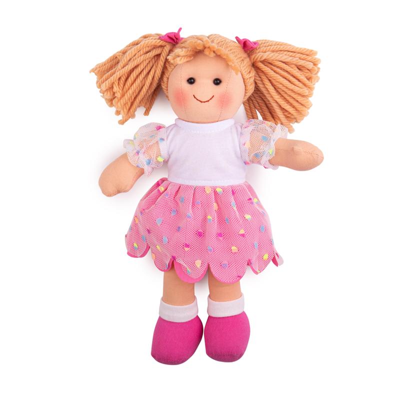 Bigjigs Toys Látková bábika Darcie 28 cm