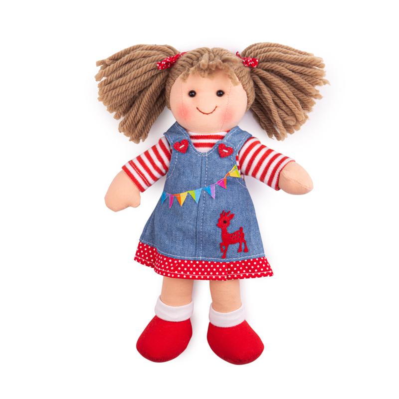 Bigjigs Toys Látková bábika Hattie 28 cm
