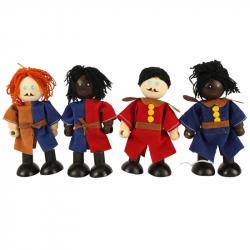 Bigjigs bábiky - Set stredovekých vojakov 4ks
