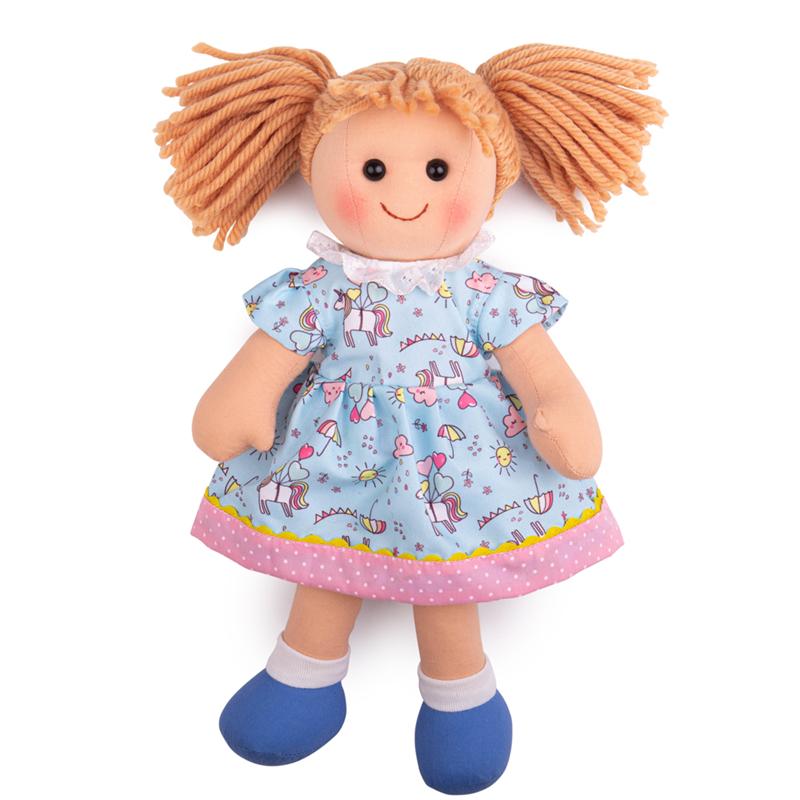 Bigjigs Toys Látková bábika Olivia 34 cm